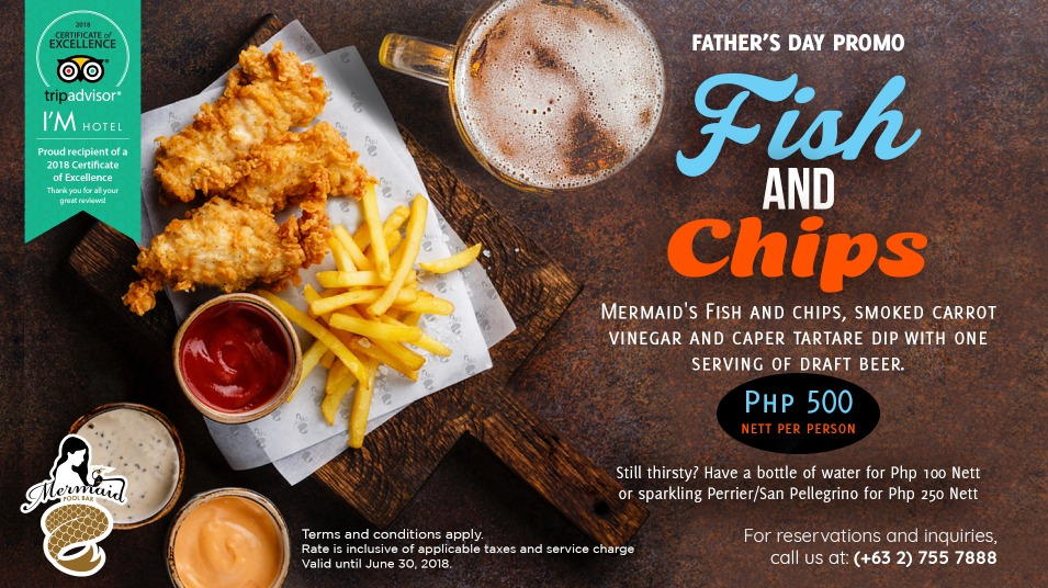 Fish and Chips Fathers Day Promo