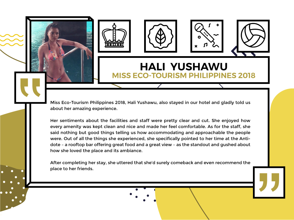 Hali Yushawu Ms.Eco-Tourism Philippines 2018